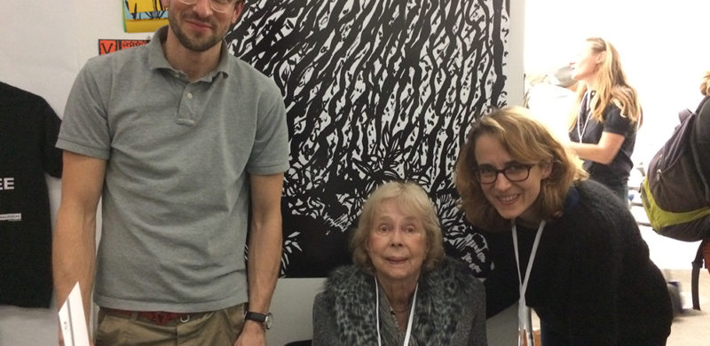 Stevens (center) and her daughter Laura Schleussner, her collaborator on THE SIXTIES IN BLACK AND WHITE. On the left is the book's graphic designer, Christopher Jung, of Studio Jung, Berlin.