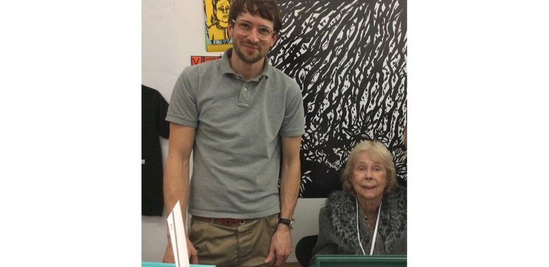 Stevens and the THE SIXTIES IN BLACK AND WHITE graphic designer, Christopher Jung, of Studio Jung, Berlin.